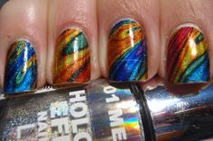 More Nail Polish: Mandelbrot set inspired tattoo nail art