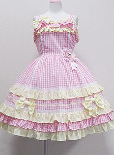Angelic Pretty / Jumper Skirt / POP Check JSK