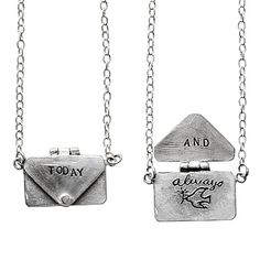 LOVE LETTER NECKLACE | Yayoi Inada, Sterling Silver Jewelry, Charm, Love Note, Romance | UncommonGoods $175