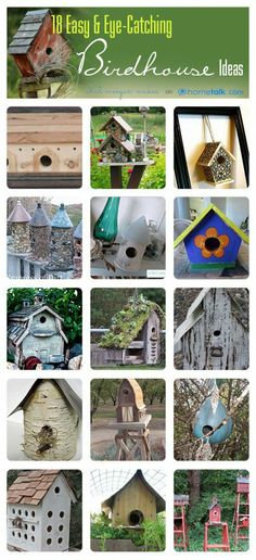 18 Easy & Eye-Catching Birdhouse Ideas From Hometalk