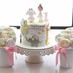 . Girls First Birthday Cake, Birthday Cakes For Women, Fondant Baby, Fondant Cakes, Mini Tortillas, Fondant Figures, Girly Cakes, Elephant Cakes, Baby Girl Cakes