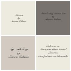 Agreeable Gray paint color in dining room had a low luster finish. Gauntlet Gray Promar 200 is the paint color for the built ins in the living room. Shutter color: It is listed in the Sherwin Williams