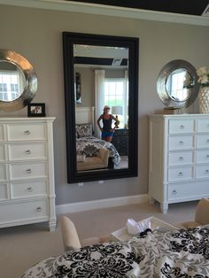 His and hers dresser - I love this for the master bedroom!