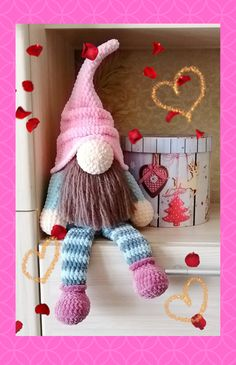Your place to buy and sell all things handmade Crochet Toys Patterns, Amigurumi Patterns, Stuffed Toys Patterns, Handmade Ideas, Handmade Toys, Etsy Handmade, Valentine Decorations, Christmas Decorations, Scandinavian Gnomes