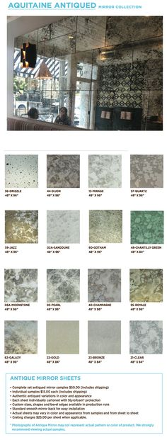 Antique Mirror Sheets at Spancraft (glass) on Long Island Antique Mirror Splashback, Antique Mirror Tiles, Mirror Wall Tiles, Mirror Backsplash, Antiqued Mirror, Distressed Mirror, Kitchen Backsplash, Booth, Glass Bar