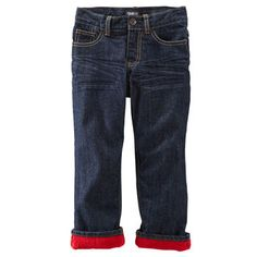 Fleece-Lined Jeans - Dark Wash