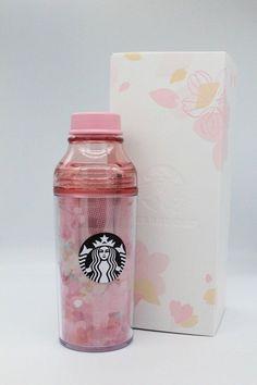 Starbucks Japan Sakura 2018 Plastic Tumbler 473ml Check Petal Sunny Bottle