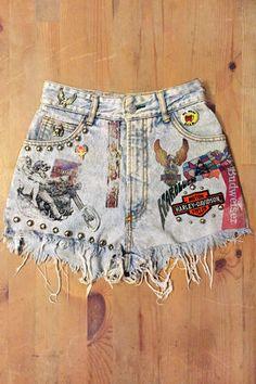 WILD CHILD Custom Vintage High Waisted Jean Shorts – BACKBITE