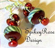 Earrings Funky Handcrafted Red Lampwork by GlendasJewelleryOz
