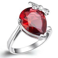 Red Zircon Women's Ring