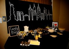 NYC Theme party candy bar