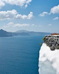 Cliff-side Lycabettus is possibly the most spectacular restaurant setting on Santorini. #Jetsetter #JSVolcano