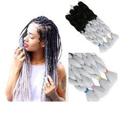 Grey Crochet Braid Hair Extension | Hair Care