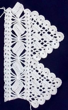 Crochet Lace Patterns – in Fabric Material Crochet Border Patterns, Crochet Lace Edging, Lace Patterns, Crochet Trim, Knit Or Crochet, Knitting Patterns, Crochet Edgings, Crochet Squares, Filet Crochet