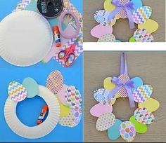 christmas crafts for kids to make * with kids crafts + crafts for kids + easter crafts for kids + mothers day crafts for kids + kids crafts + christmas crafts for kids to make + valentine crafts for kids + halloween crafts for kids Bunny Crafts, Easter Crafts For Kids, Toddler Crafts, Preschool Crafts, Paper Easter Crafts, Easter Wreaths Diy, Kids Diy, Christmas Ornament Crafts, Christmas Art