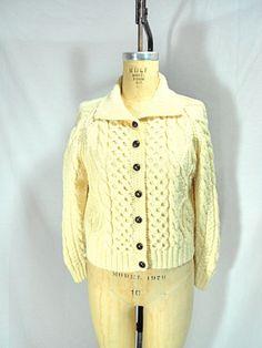 Vintage 1980s Carraig Donn Irish Knit Cardigan Sweater Size Small - 5652b27ac72c