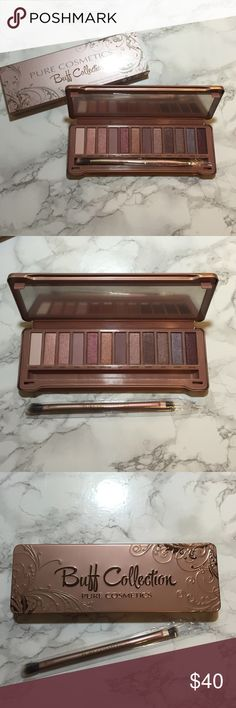 Buff Collection Eyeshadow Palette Authentic Pure Cosmetics Buff Collection eyeshadow palette. This palette comes with 12 beautiful shades and a dual ended brush. This palette is new, never used, and it comes in its original box! Pure Cosmetics Makeup Eyeshadow