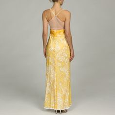 @Overstock - A flirty sheer back, golden floral medallion print and embroidered waistband define this lovely evening gown from Issue New York. Constructed of 100-percent silk, this elegant dress is finished with a delicately beaded V-neckline.http://www.overstock.com/Clothing-Shoes/Issue-New-York-Womens-Beaded-Sheer-Back-Evening-Gown/5816963/product.html?CID=214117 $46.99