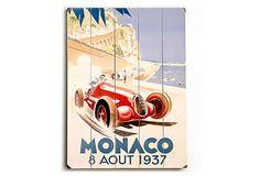 Monaco Wood Sign on OneKingsLane.com
