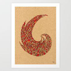 - volcano - Art Print by Magdalla Del Fresto - $18.72