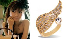 Exquisite jewelry ANGEL'S WING ring - $4.99USD