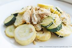 Clean Eating Recipe – Chicken, Zucchini and Parmesan Melt | Clean Eating Recipes