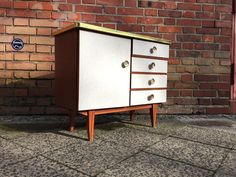 Retro Kommode Vintage Sideboard 50er 60er Schrank Mid Century Preis: 125 €