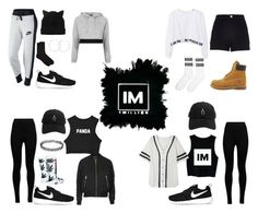 1MILLION DANCE STUDIO #14 by kariina-sykes on Polyvore featuring moda, WithChic, Topshop, NIKE, Wolford, River Island, HUF, Accessorize, Timberland and Monki