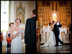 bride and groom first kiss at villa academy by seattle wedding photojournalist cory parris