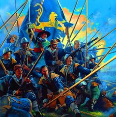 Swedish Pikemen in battle, Thirty Years War