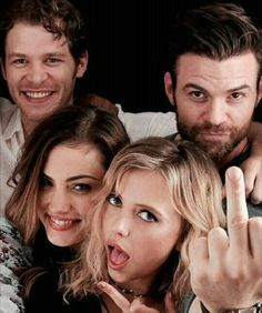 The Mikalsons. I ADORE Daniel Gillies! Look at that gorgeous middle finger.