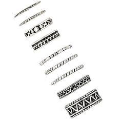 Forever 21 Etched Midi Ring Set ($5.90) ❤ liked on Polyvore featuring jewelry, rings, forever 21 jewelry, forever 21 rings, forever 21, mid knuckle rings and etched jewelry