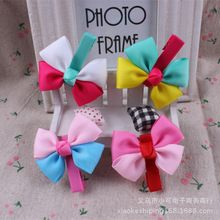 Crown Girls Acessorios Para Cabelo Hairband Real Hot Sale Solid 2015 Children Clip Hairpin Ribbon Bow Hair Accessories Wholesale(China (Mainland))