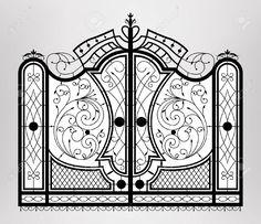 Кованые ворота Клипарты, векторы, и Набор Иллюстраций Без Оплаты Отчислений. Image 21934685.