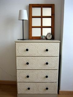 Love this idea ~ textured paintable wallpaper.