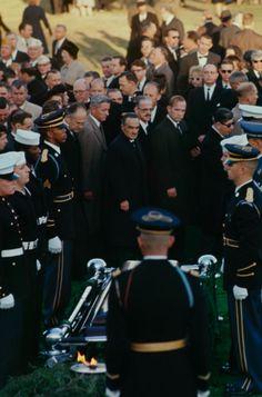 John F. Kennedy's funeral, Arlington Cemetery, November 25, 1963.
