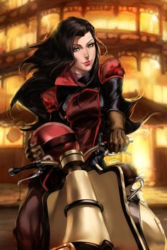 Asami confuses me she has earth kingdom eyes but a fire nation outfit and she acts a combination of both....what is she<-- she's amazing now stop trying to put her in a box