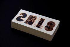 Hot Foil Christmas & New Year Card 2018 on Behance Niklas, Types Of Lettering, New Year Card, Christmas And New Year, Envelope, Typography, Letters, Cards, Behance