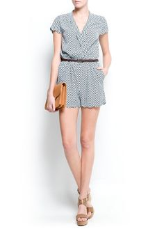 Leaves print short jumpsuit 			EUR39.99 		  ref. 81452151 - Ponkip-h
