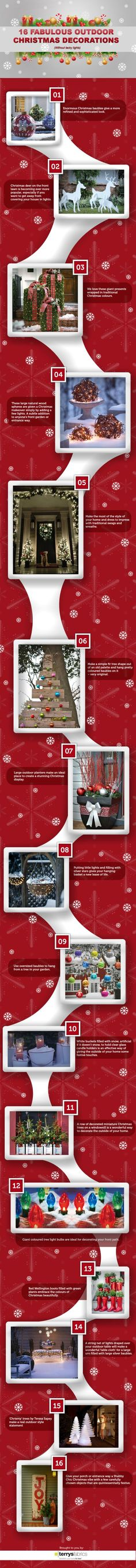 16 Fabulous Outdoor Christmas Decorations