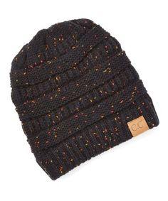 2a994cfb Black Speckle Knit Beanie - Women Knit Beanie, Knitted Hats, Knit Hats,  Knitted