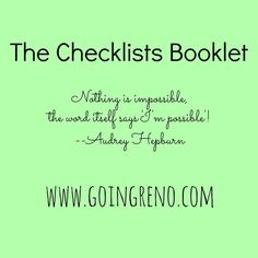 The Checklist Booklet