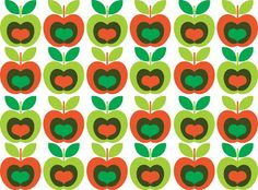 Here is a simple apple pattern. Retro Pattern, Cute Pattern, Pattern Design, Textile Patterns, Print Patterns, Paper Flyers, Vegetable Prints, Apple Prints, Iphone 6 Wallpaper