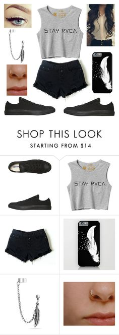 """99th set ♡"" by melanietorresco ❤ liked on Polyvore featuring Converse, RVCA, Retrò and Bling Jewelry"