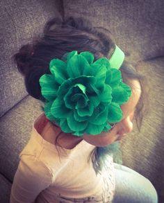 Large Green St Patrick Day Flower Headband or Hair Clip, Baby Girl Flower Headband, Newborn Headband, Infant Flower Headband, Wedding Flower   #st #patricks #jewelry #hair #bow www.loveitsomuch.com