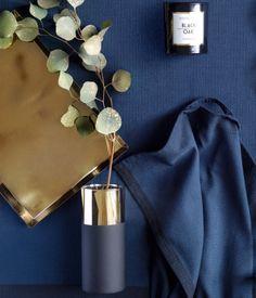 Glass Vase | Black/gold-colored | Home | H&M US