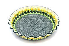 Polish Pottery Baker - Pie Dish - Fluted - Daffodil