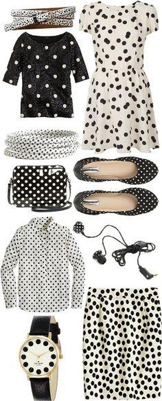 Polka Dotted Fashion ♥✤ | Keep the Glamour | BeStayBeautiful