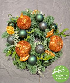 Bright orange and green. Love this colour combination from a customer with the great idea Color Combinations, Christmas Bulbs, Bright, Colour, Orange, Holiday Decor, Green, Home Decor, Products