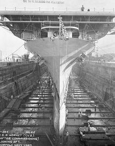 Yorktown class USS Hornet (CV-8) nearing completion